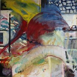 Bridge / oil on canvas / 990mm x 1000mm